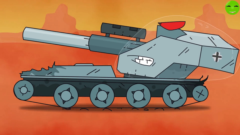 He returned cartoons about tanks
